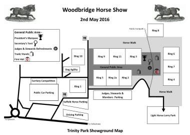 Showground Map 2016